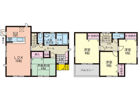 岡山県倉敷市安江の新築 一戸建て分譲住宅の間取り図