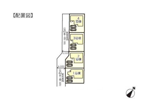 倉敷市船穂町船穂の新築 一戸建て分譲住宅の区画図
