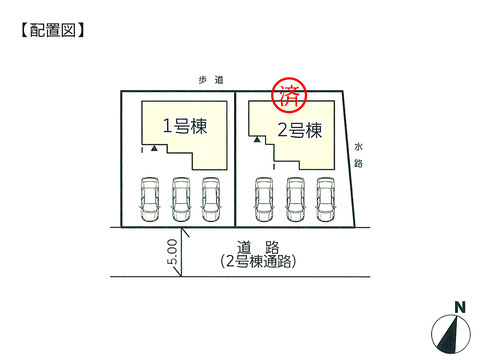 岡山県岡山市南区植松の新築 一戸建て分譲住宅の区画図