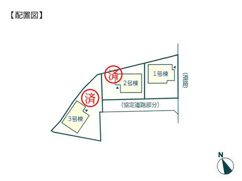 岡山県岡山市北区宿の新築 一戸建て分譲住宅の区画図