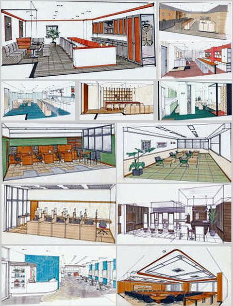 ビルリフォーム 高校の教室 会議室などの内装・デザインパース画