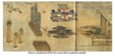 from JSRI website/ Honen Shonin Gyojoezu, possessed by Chionin Temple