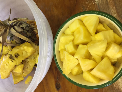 I ate this pineapple ....four weeks after I bought it.  Very sweet!!!