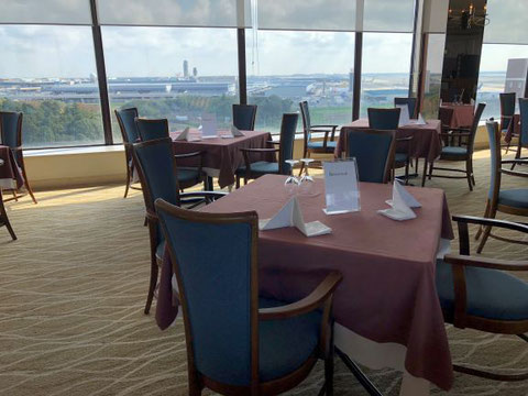 The top floor restaurant