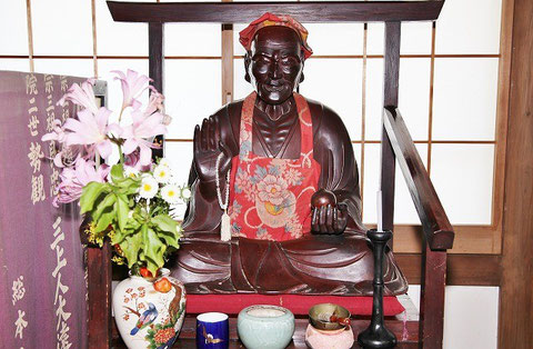 Binzuru at Daisenji Temple, Niigata, Japan.