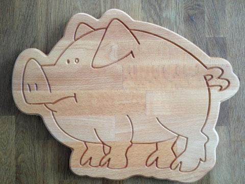 Brotzeitbrett Schwein planlos