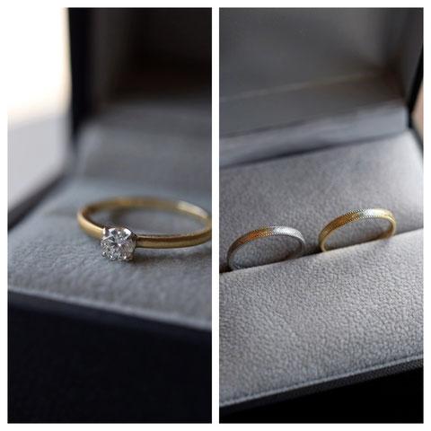留寿都村 C様ご夫妻の婚約指輪と結婚指輪