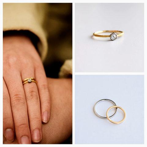 札幌市 T様の婚約指輪と結婚指輪