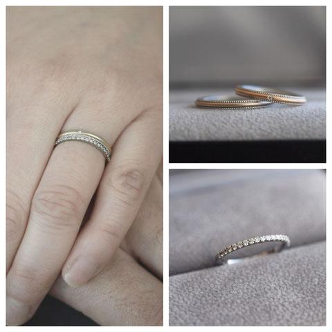 旭川市 W様の婚約指輪と結婚指輪