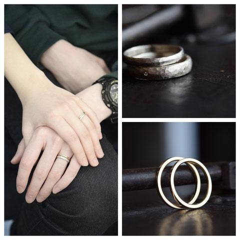 旭川市 E様ご夫妻の婚約指輪と結婚指輪