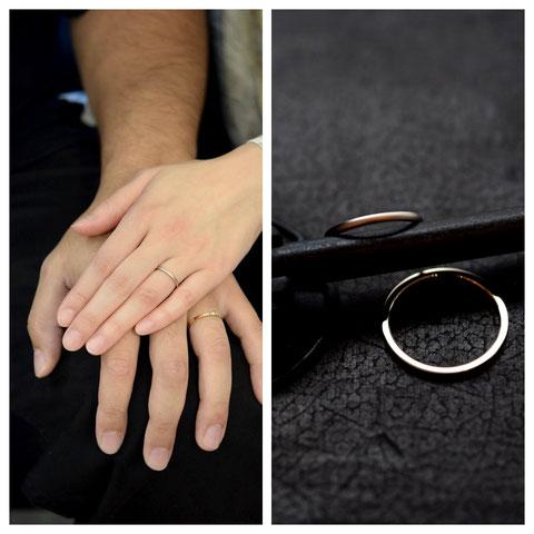 旭川市 M様ご夫妻の結婚指輪
