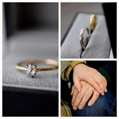 旭川市 K様の婚約指輪と結婚指輪