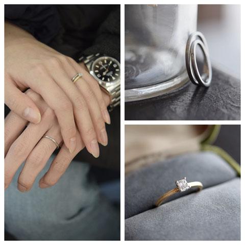 旭川市 M様ご夫妻旭川市の婚約指輪と結婚指輪