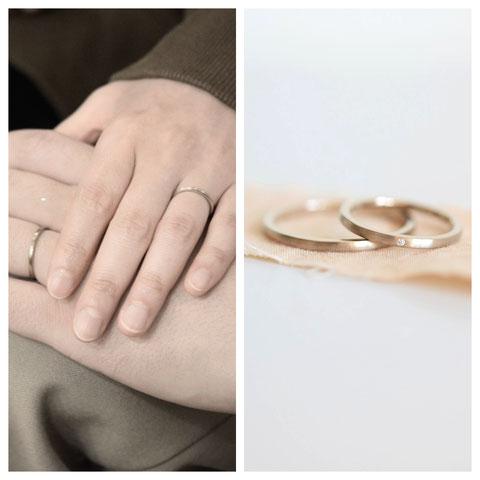 旭川市 H様ご夫妻の結婚指輪