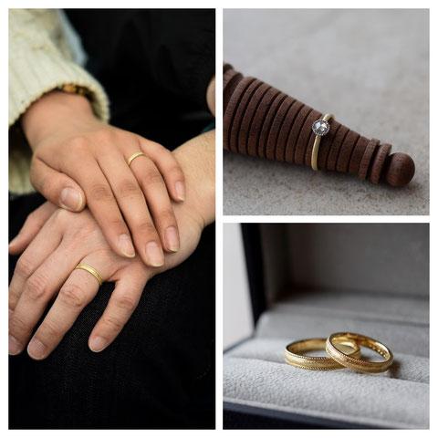東神楽町 E様の婚約指輪と結婚指輪