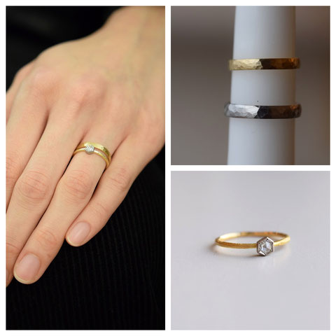 旭川市 Y様ご夫妻の婚約指輪と結婚指輪