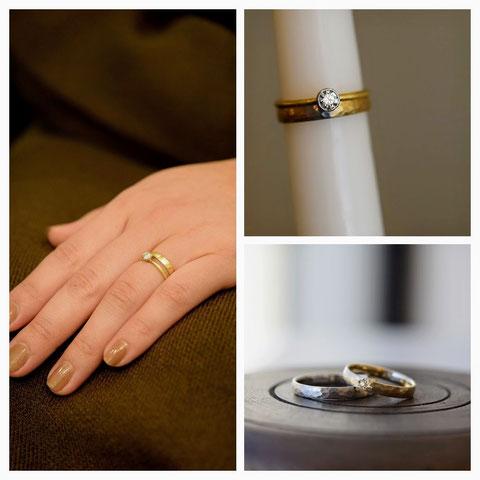 旭川市 T様の婚約指輪と結婚指輪