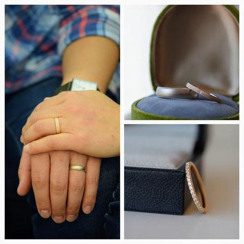 帯広市 S様の婚約指輪と結婚指輪