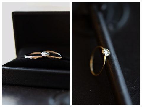 網走市 M様の婚約指輪と結婚指輪