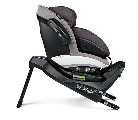 Statement by the Jury  This child seat gains merit with a construction that facilitates horizontal installation. Due to clear optical and acoustic signals, it is also easy to install.