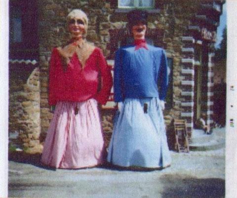 Zante et Rinette lors du la Ducasse du Grand K'min 1971