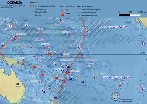 Karte Ozeanien Pazifik