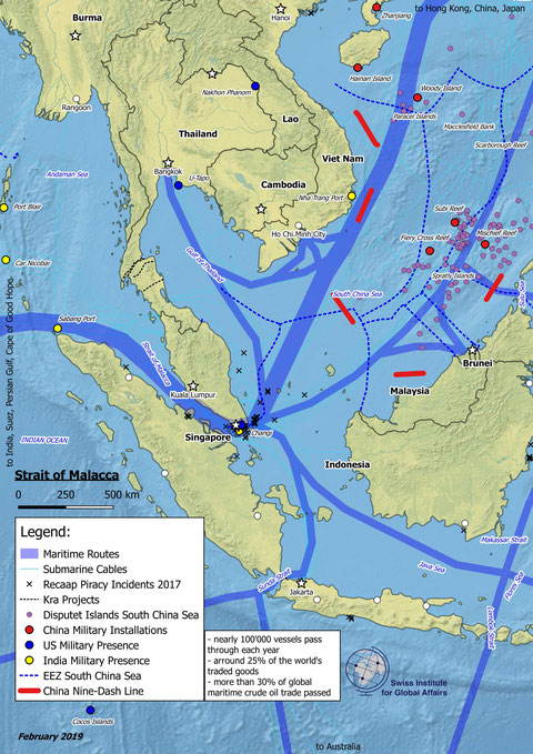 Karte Strasse von Malakka