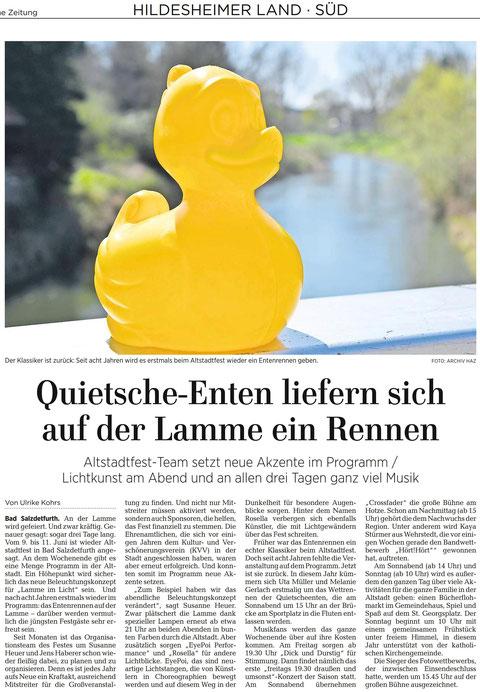 Quelle: Hildesheimer Allgemeine Zeitung vom 30.05.2017