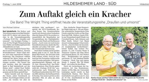 Quelle: Hildesheimer Allgemeine Zeitung vom 01.06.2018