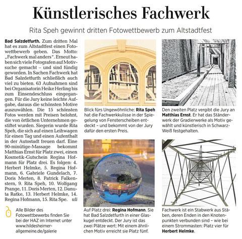 Quelle: Hildesheimer Allgemeine Zeitung vom 13.06.2017