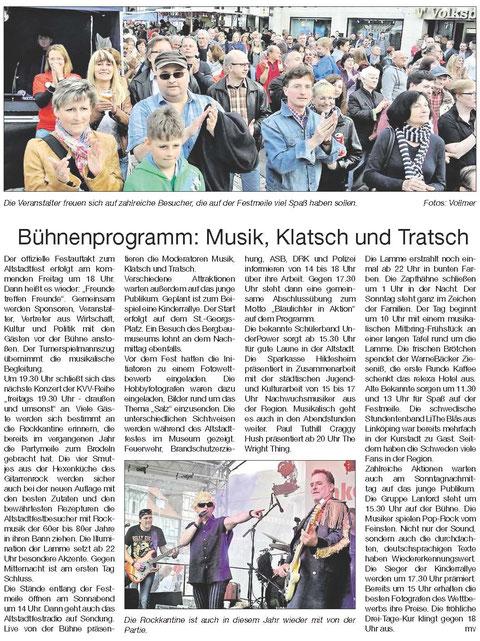 Quelle: Hildesheimer Allgemeine Zeitung vom 03.06.2015