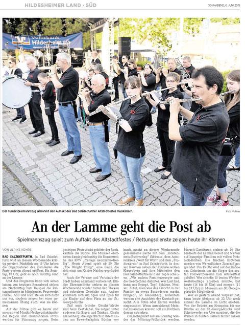 Quelle: Hildesheimer Allgemeine Zeitung vom 06.06.2015