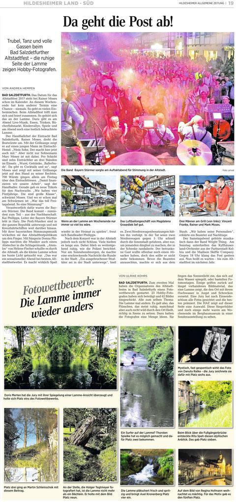 Quelle: Hildesheimer Allgemeine Zeitung vom 06.06.2016