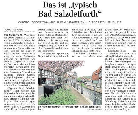 Quelle: Hildesheimer Allgemeine Zeitung vom 17.04.2018
