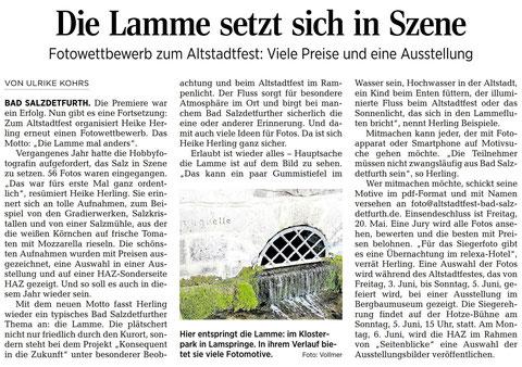 Quelle: Hildesheimer Allgemeine Zeitung vom 13.04.2016