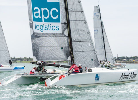Multihulls on the start line Australian Multihull Championships