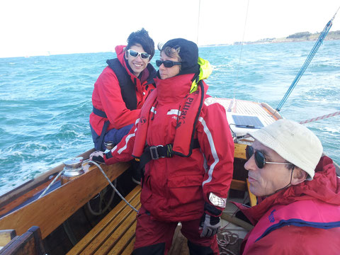 Une partie de l'équipage : Myriam, Alain, Cédric