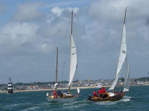 Entrée de la rade de Lorient, encore dans la brise