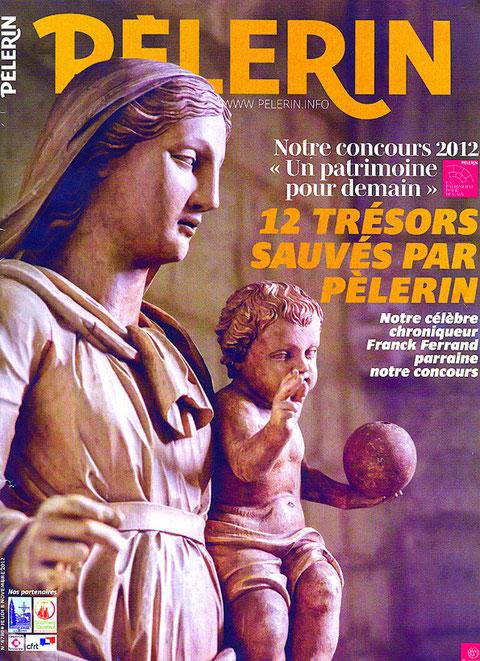 """En couverture du """"Pélerin"""", la vierge à l'enfant."""