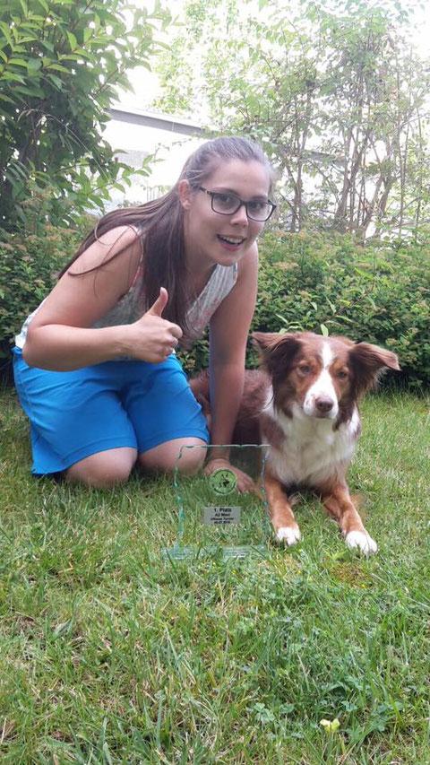 Alva gewinnt heute den A-Lauf in Heidelberg-Dossenheim. Meine Bodenlenkrakte, du bist die Beste!!!
