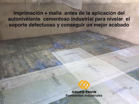 Consolidación del suelo del garaje