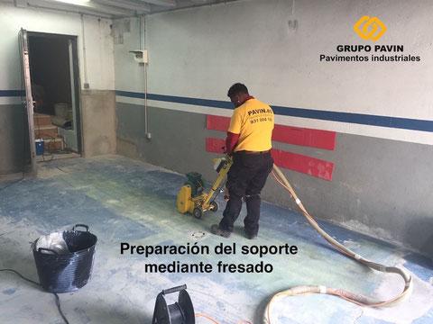 Preparación del soporte en garajes de Barcelona