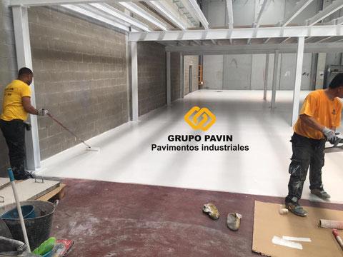 Capa de sellado suelos de resina para el pavimento industrial epoxi bicapa base agua transpirable