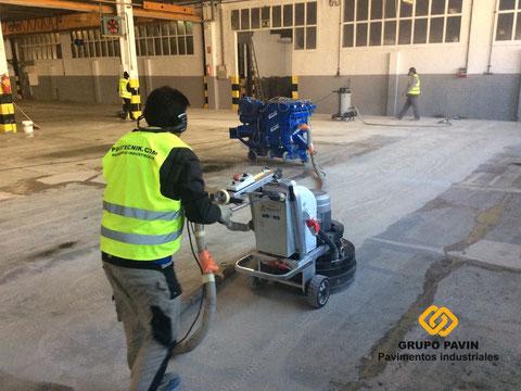 Comenzamos a dianovar el pavimento industrial