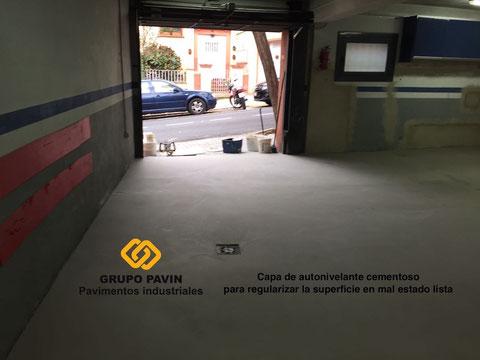 Mortero autonivelante de regularización para el garaje
