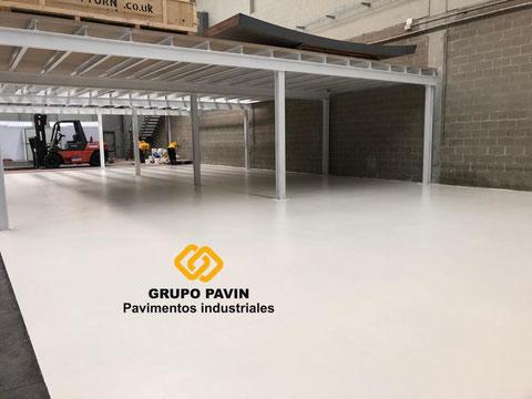 Hemos terminado con suelos de resina para el pavimento industrial epoxi bicapa base agua transpirable