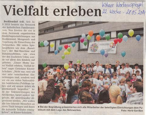 Kölner Wochenspiegel vom 28.5.2014