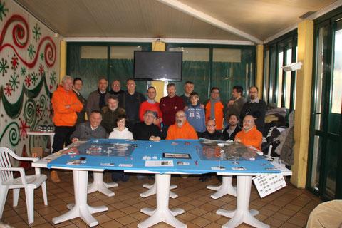 I numerosi giocatori partecipanti alla campagna.