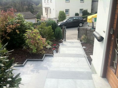 Treppe aus Naturstein