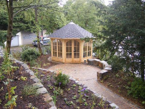 Wege mit Pavillon, Gartengestaltung Gelbrich - Wuppertal